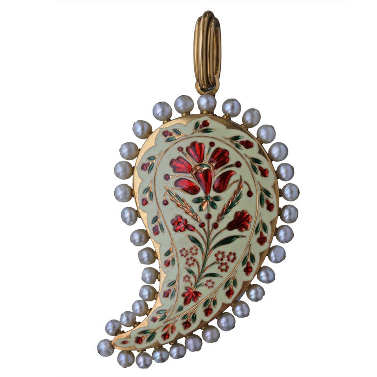 ROBERT PHILLIPS Antique Victorian Mughal Inspired Pendant