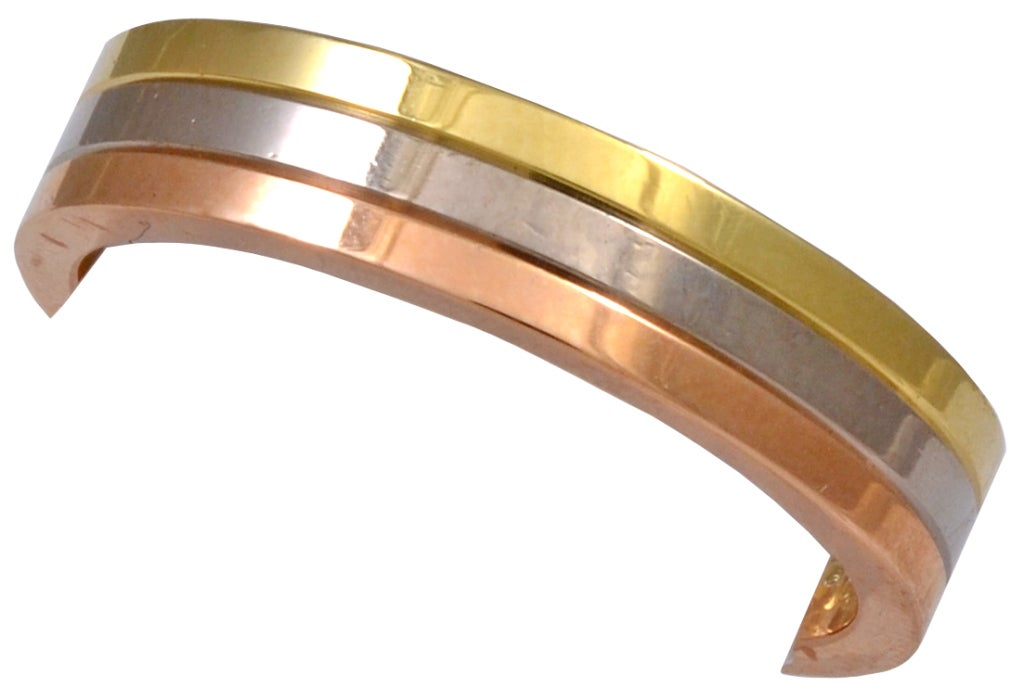 CARTIER Tri Color Wedding Band At 1stdibs