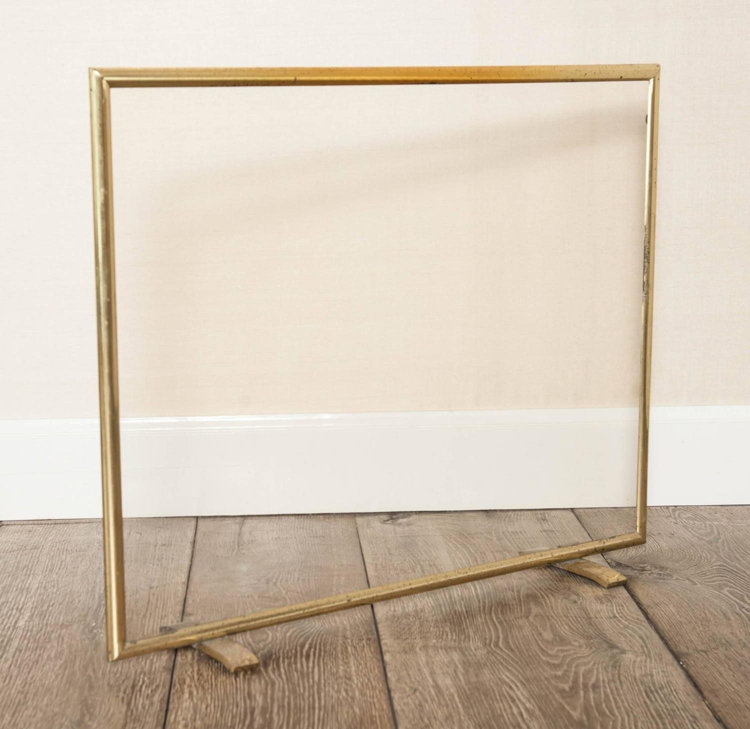 A S French Hollywood Regency Brass And Glass Fire