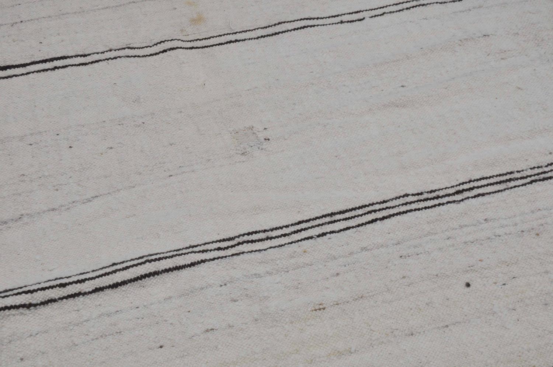 Moroccan Vintage Striped Paneled Kilim Rug Or Textile For