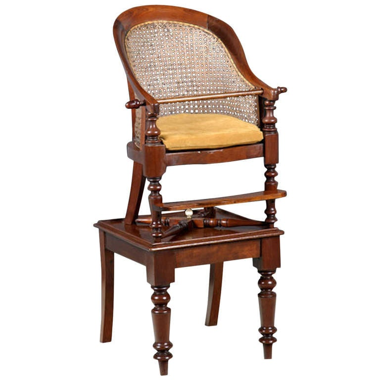 Childs Library Bergere High Chair On Table At 1stdibs