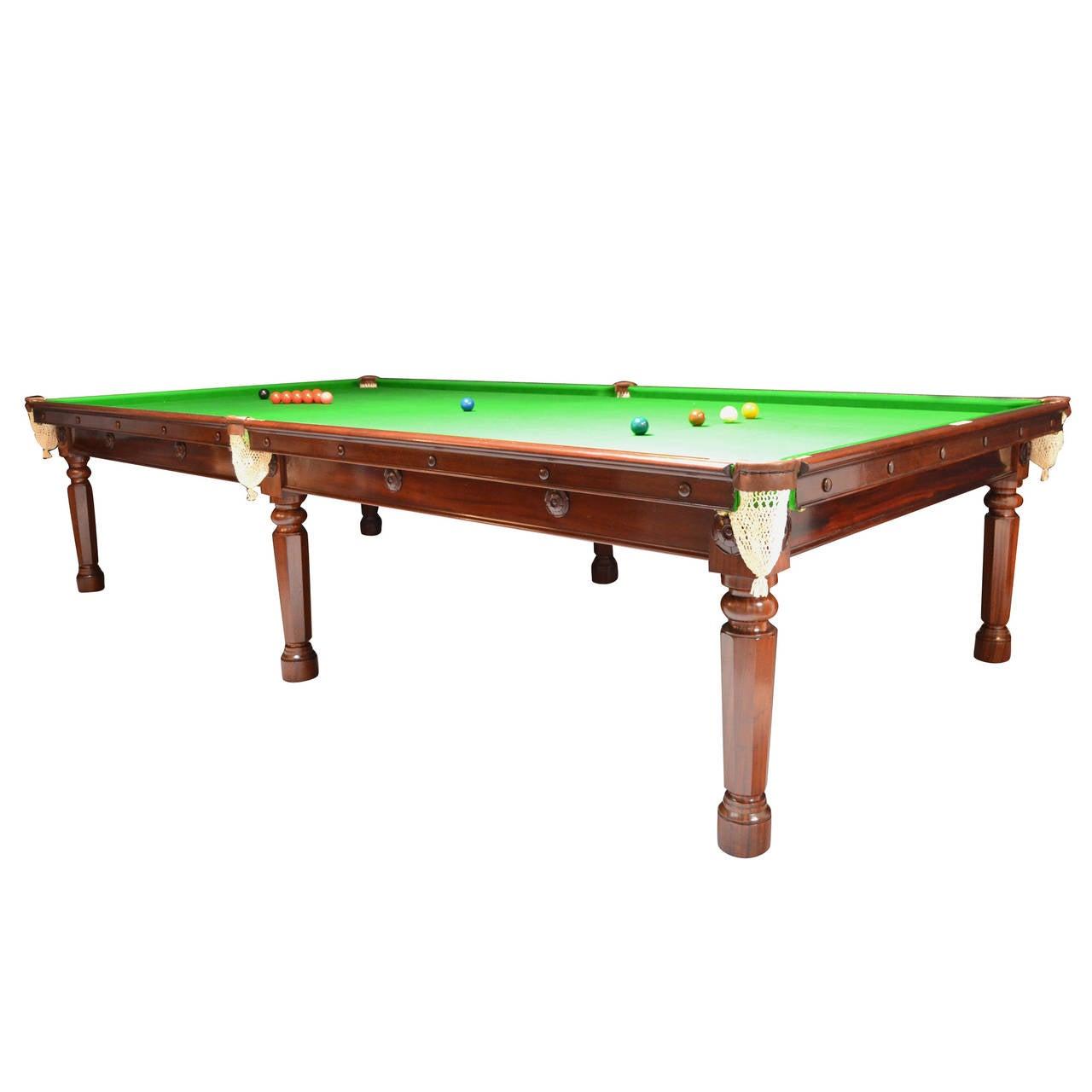 Gillows Billiard Snooker Pool Table Circa 1810 For Sale