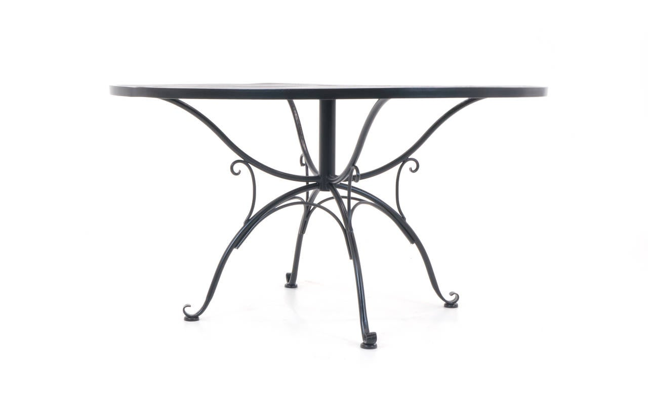 Russell Woodard Outdoor Dining Table With Four Sculptura