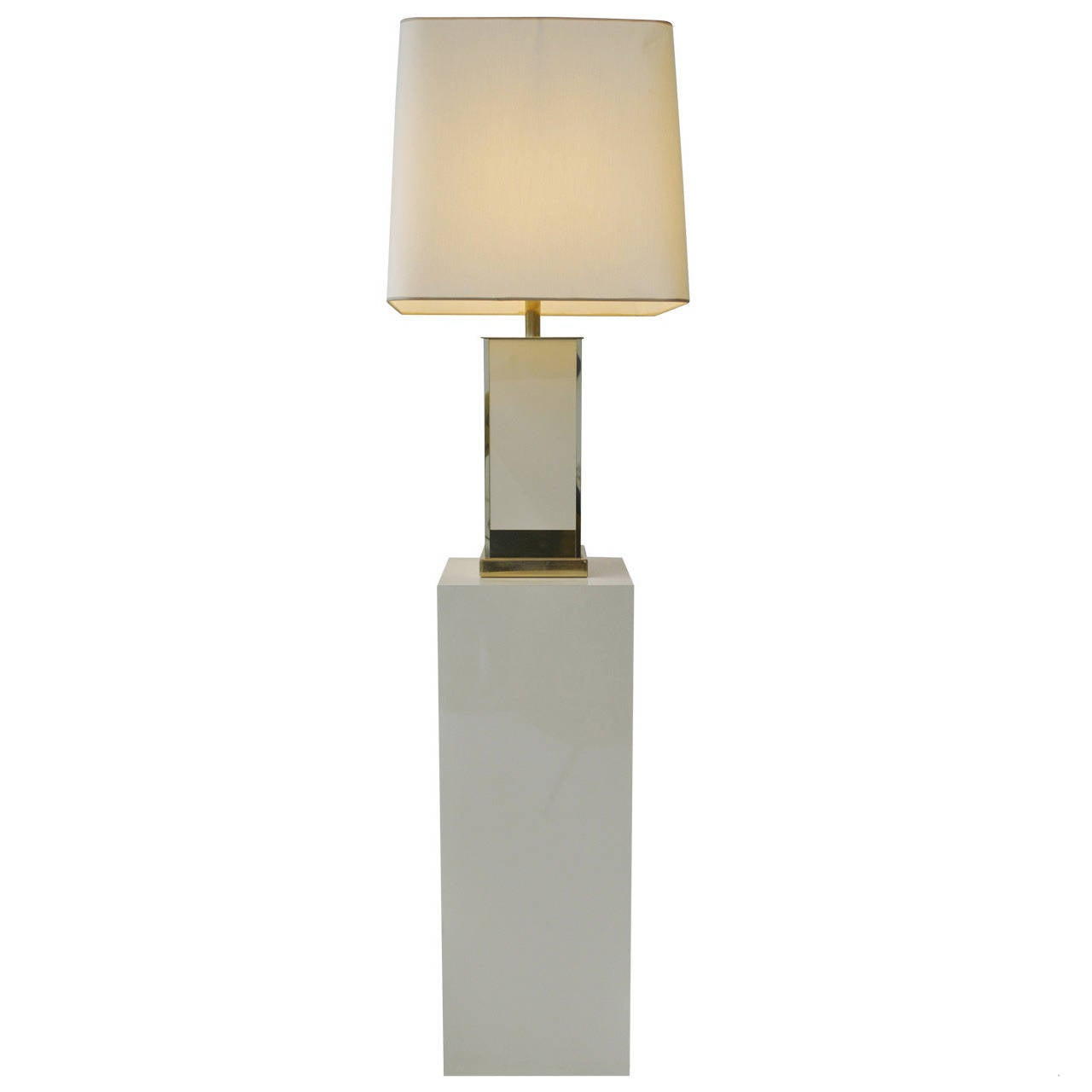 Large Pedestal With Floor Lamp By Jean Claude Mahey Late