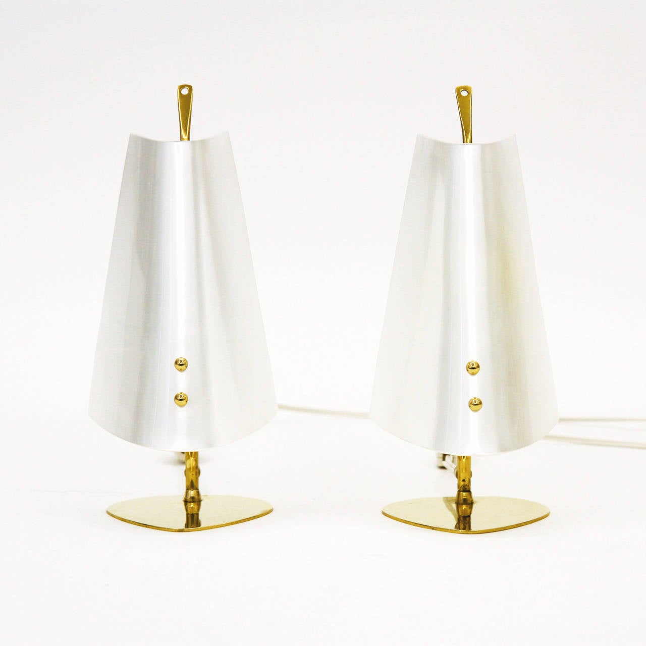 Unique Pair Of Brass And Perspex Table Lamps At 1stdibs