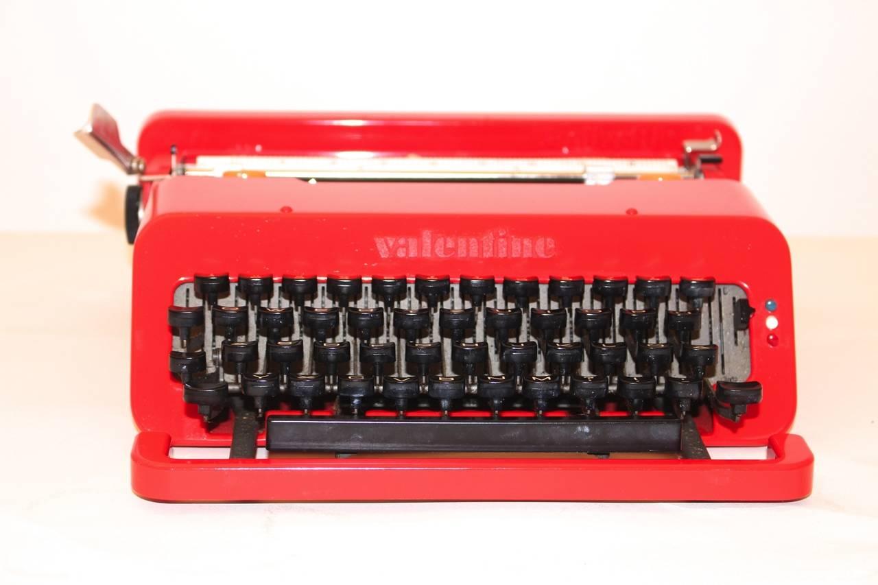 Typewriter Valentine Designed By Ettore Sottsass Italy