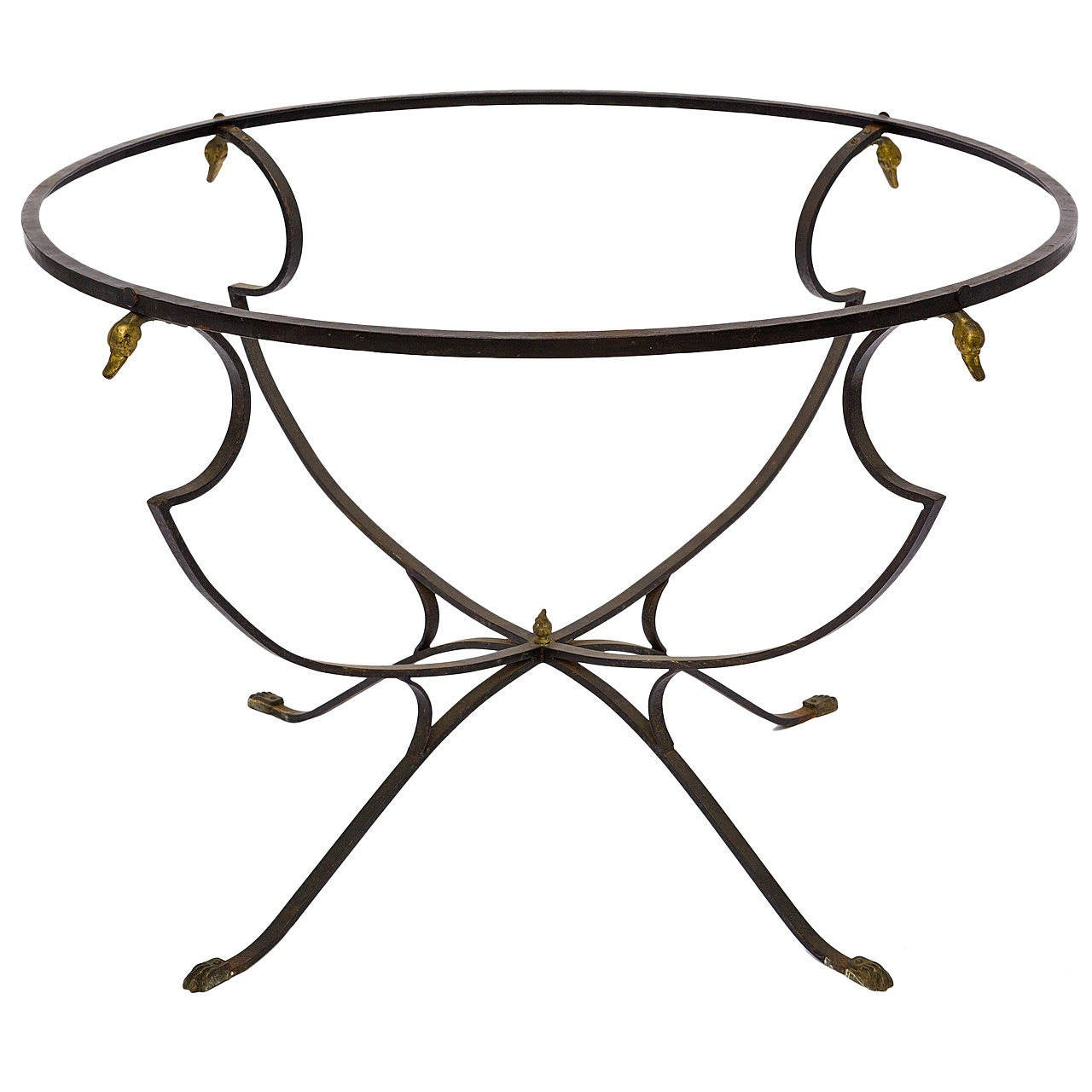 Iron And Brass Classical Table At 1stdibs