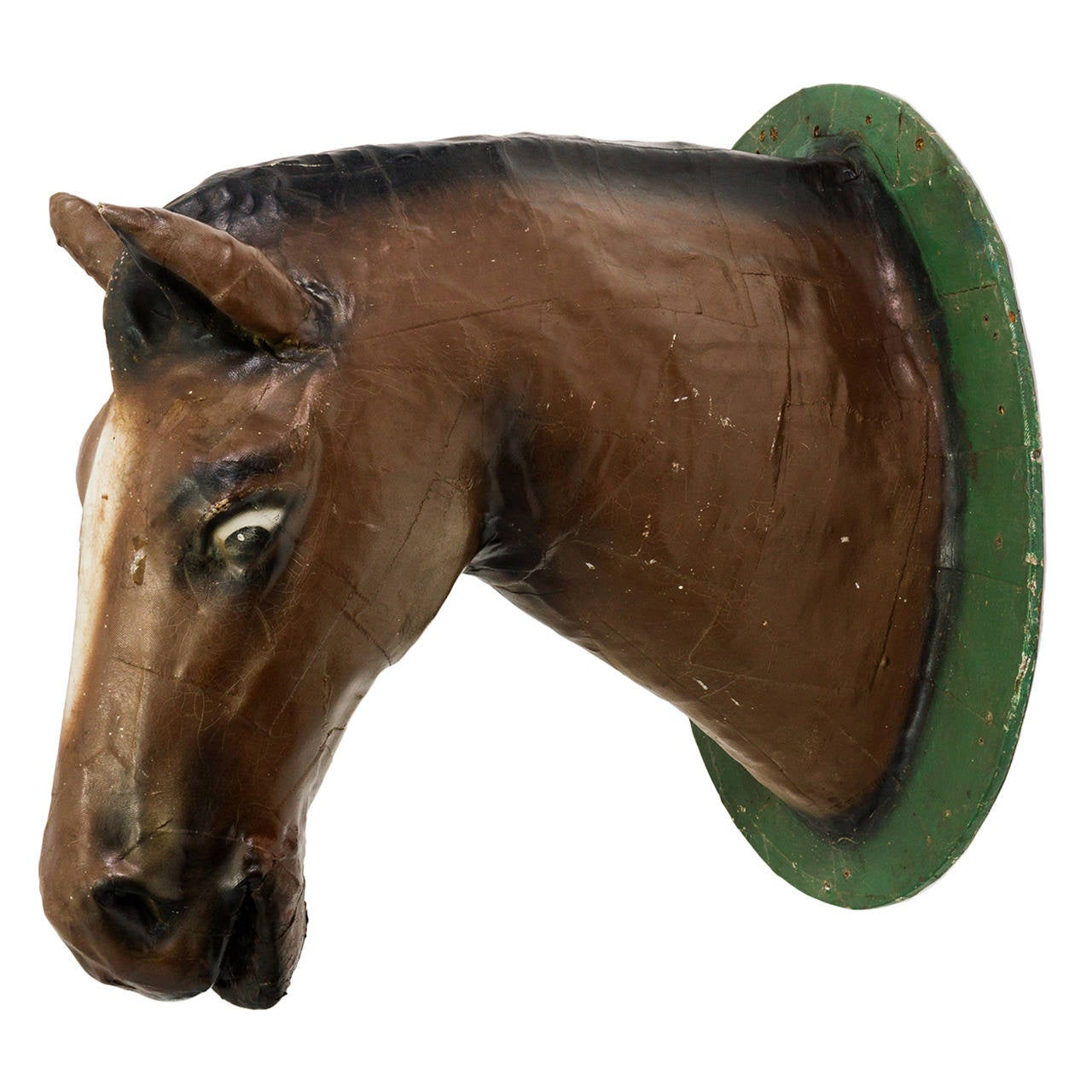 1940s Life Sized Papier Mch Horse Head From A