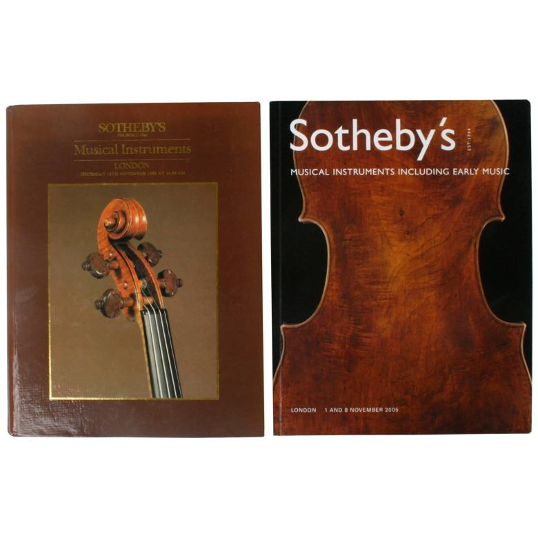 two sotheby's london auction catalogues on musical instruments for