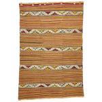 Vintage Turkish Kilim Rug With Tribal Style Boho Chic Flat Weave Kilim Rug