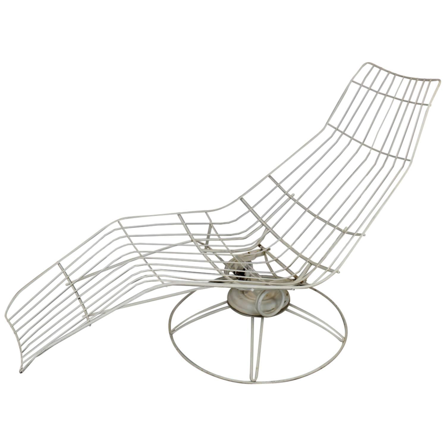 Homecrest Metal Wire Banana Lounge Chair For Sale At 1stdibs