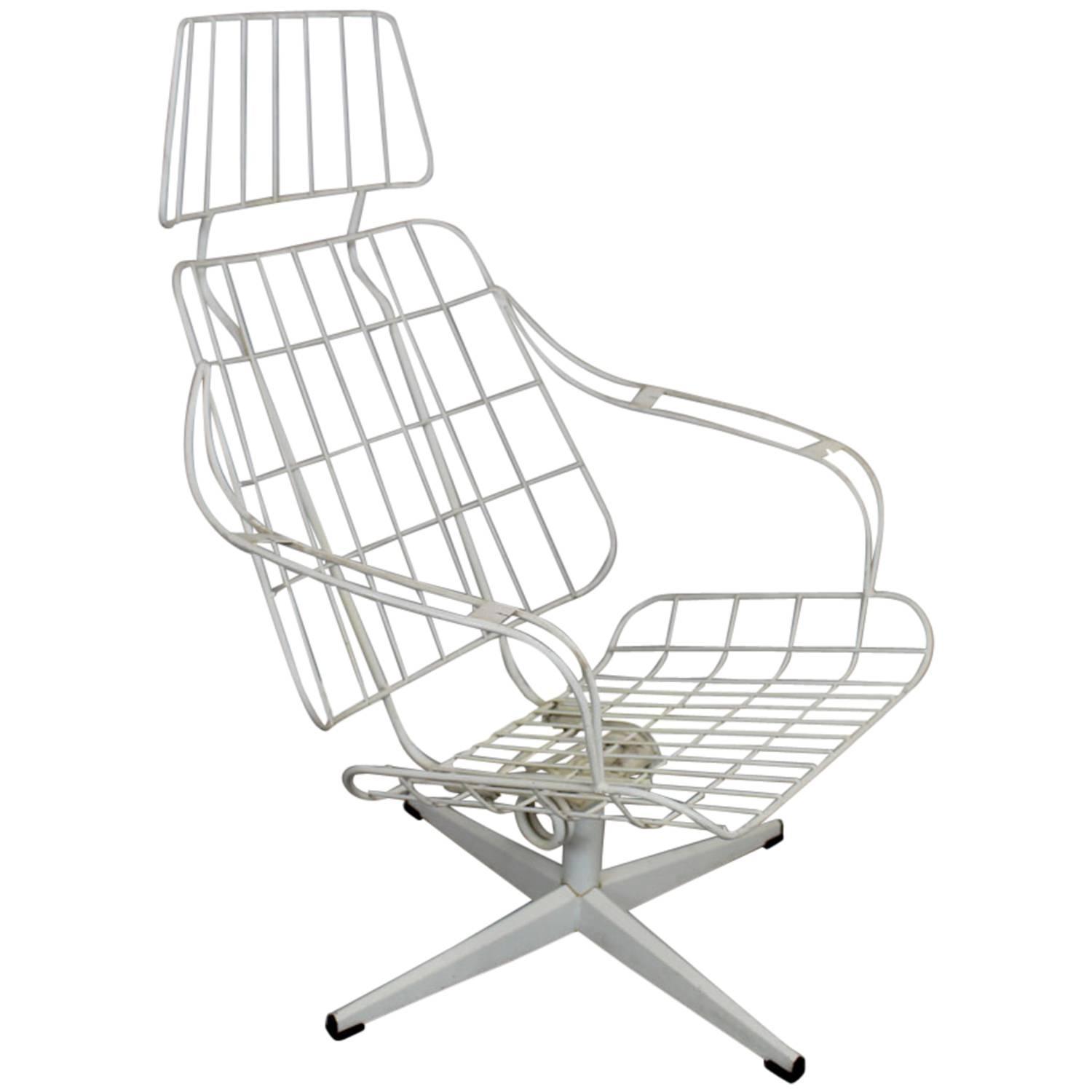 Homecrest Metal Wire Highback Lounge Chair For Sale At 1stdibs