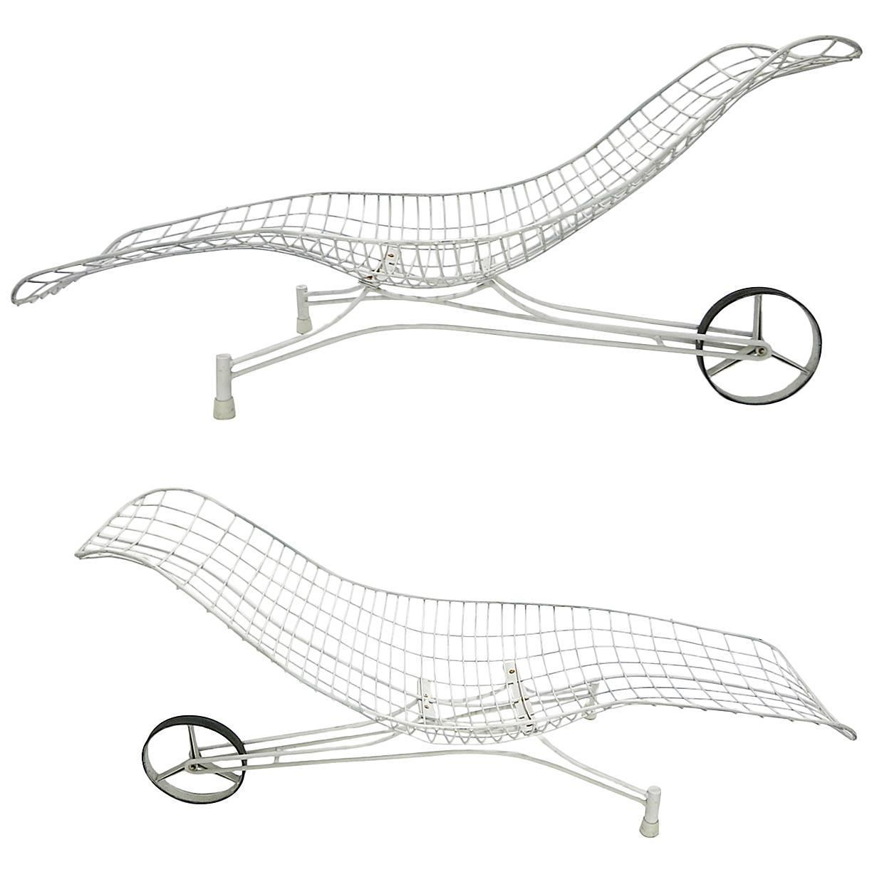 Pair Of Vintage Chaise Lounge Chairs By Vladimir Kagan