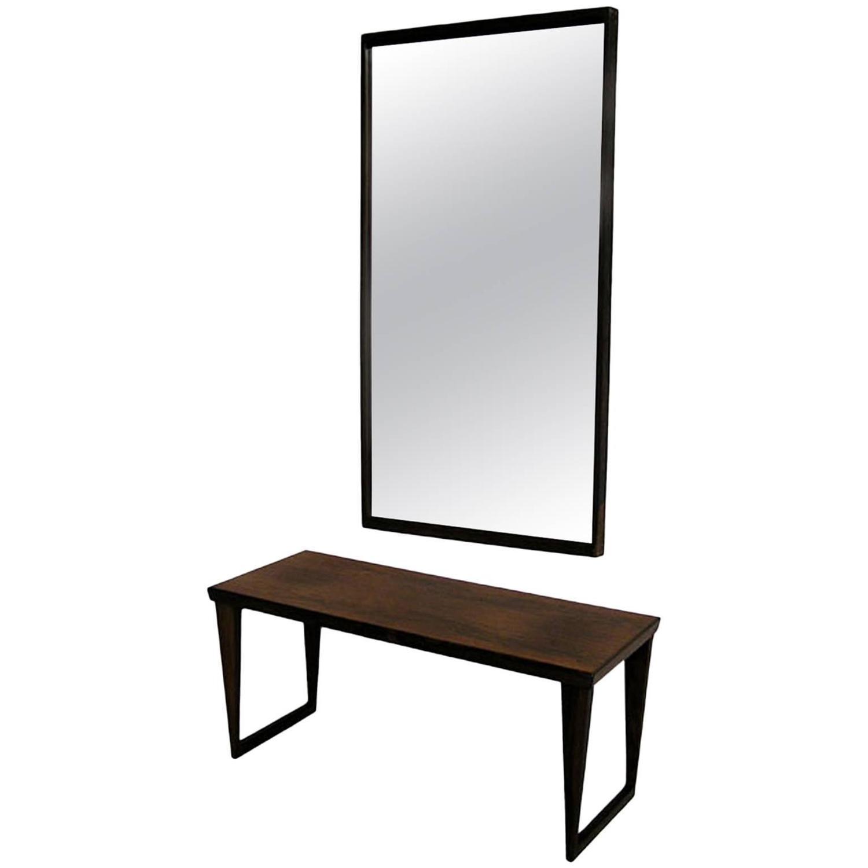 Rosewood Bench With Mirror By Kai Kristiansen Circa 1960s