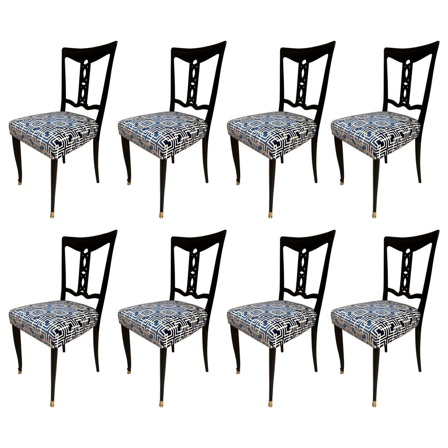 Eight Chairs In The Style Of Ico Parisi Possibly Made By