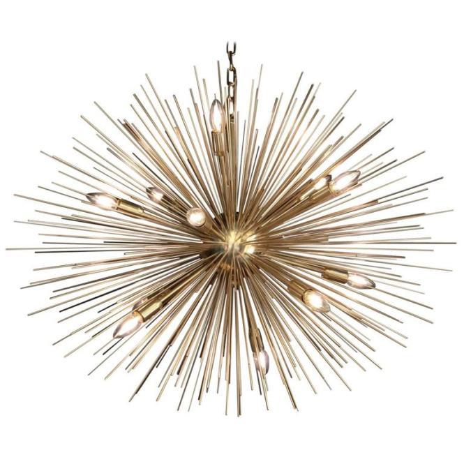 Monumental Brass Sputnik Or Urchin Chandelier 1