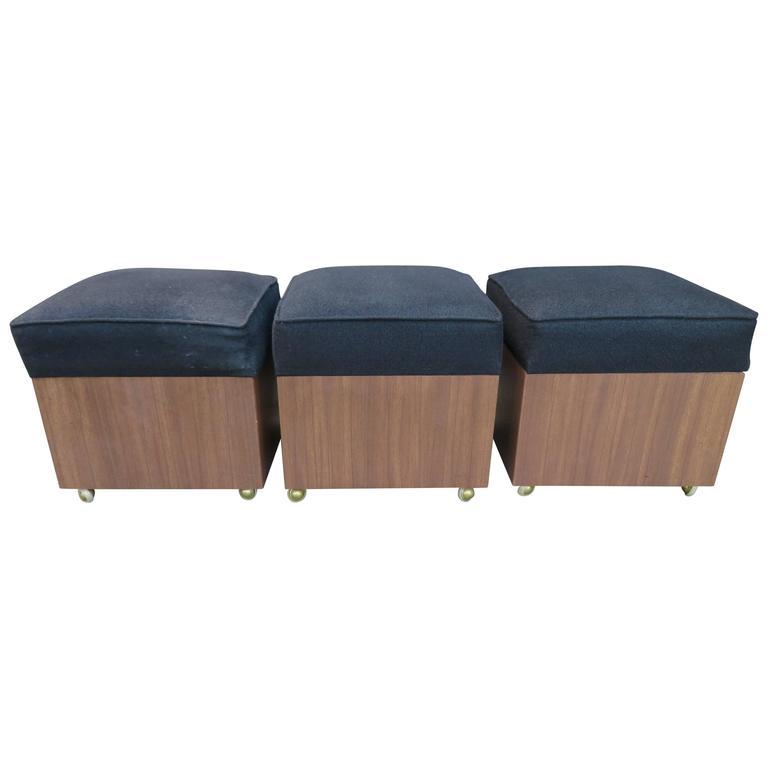 Rolling Storage Cube Ottoman