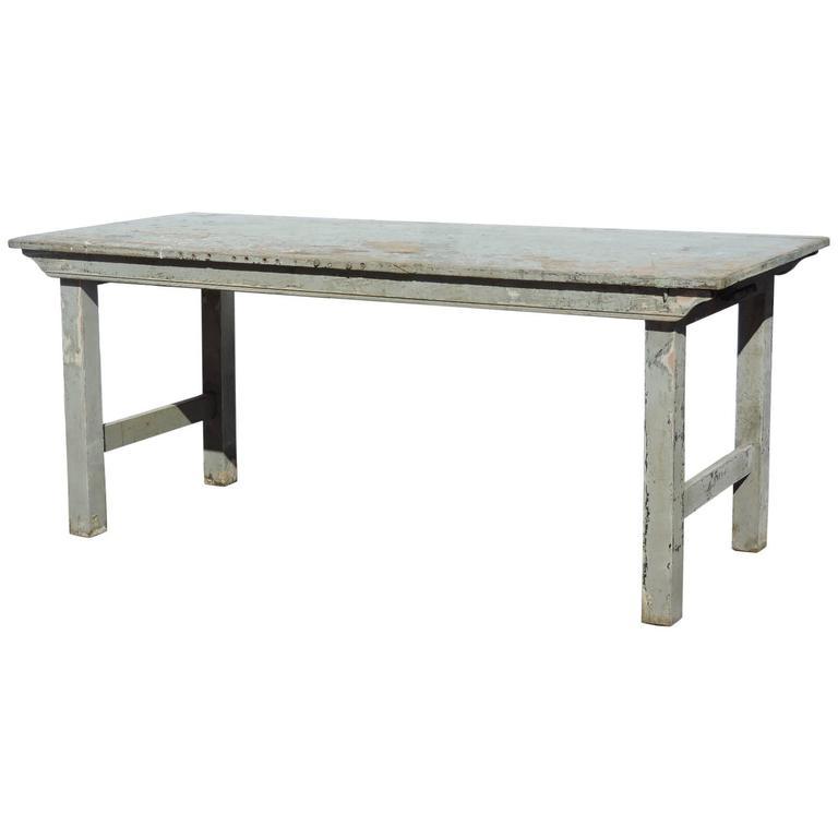 Antique Folding Farm Table At 1stdibs
