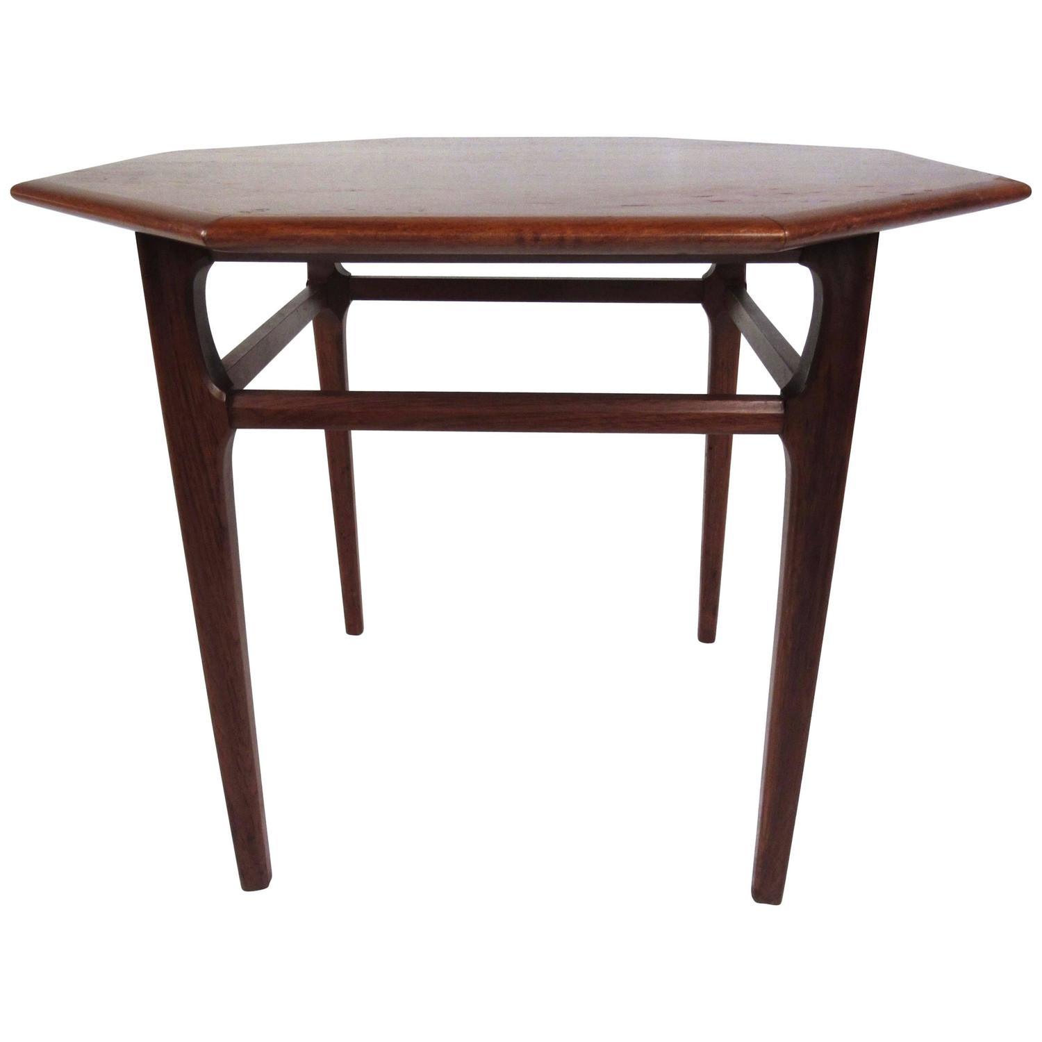 Mid Century Modern Octagonal Side Table By Mersman For