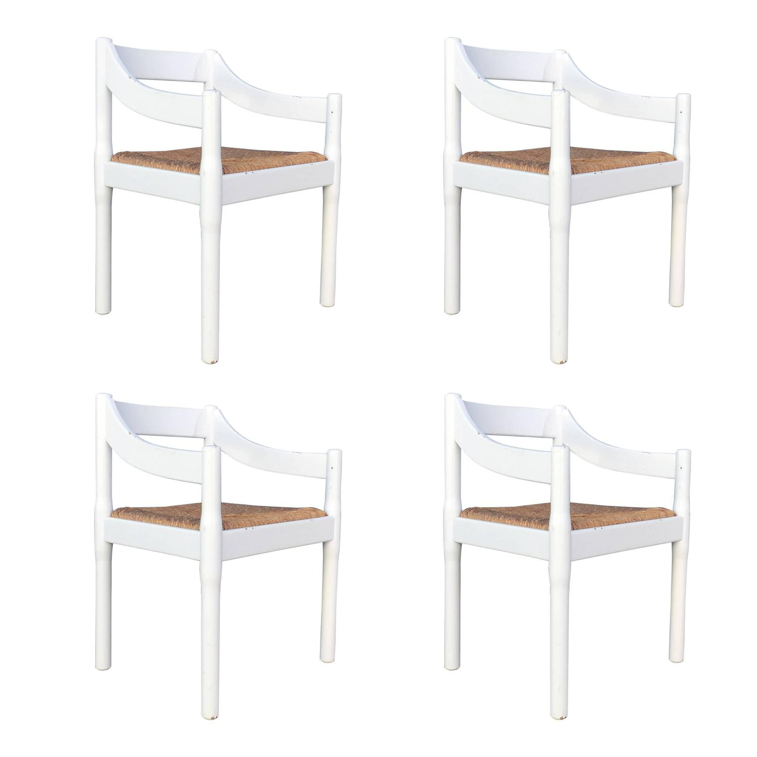 Four Carimate Dining Chairs By Vico Magistretti For