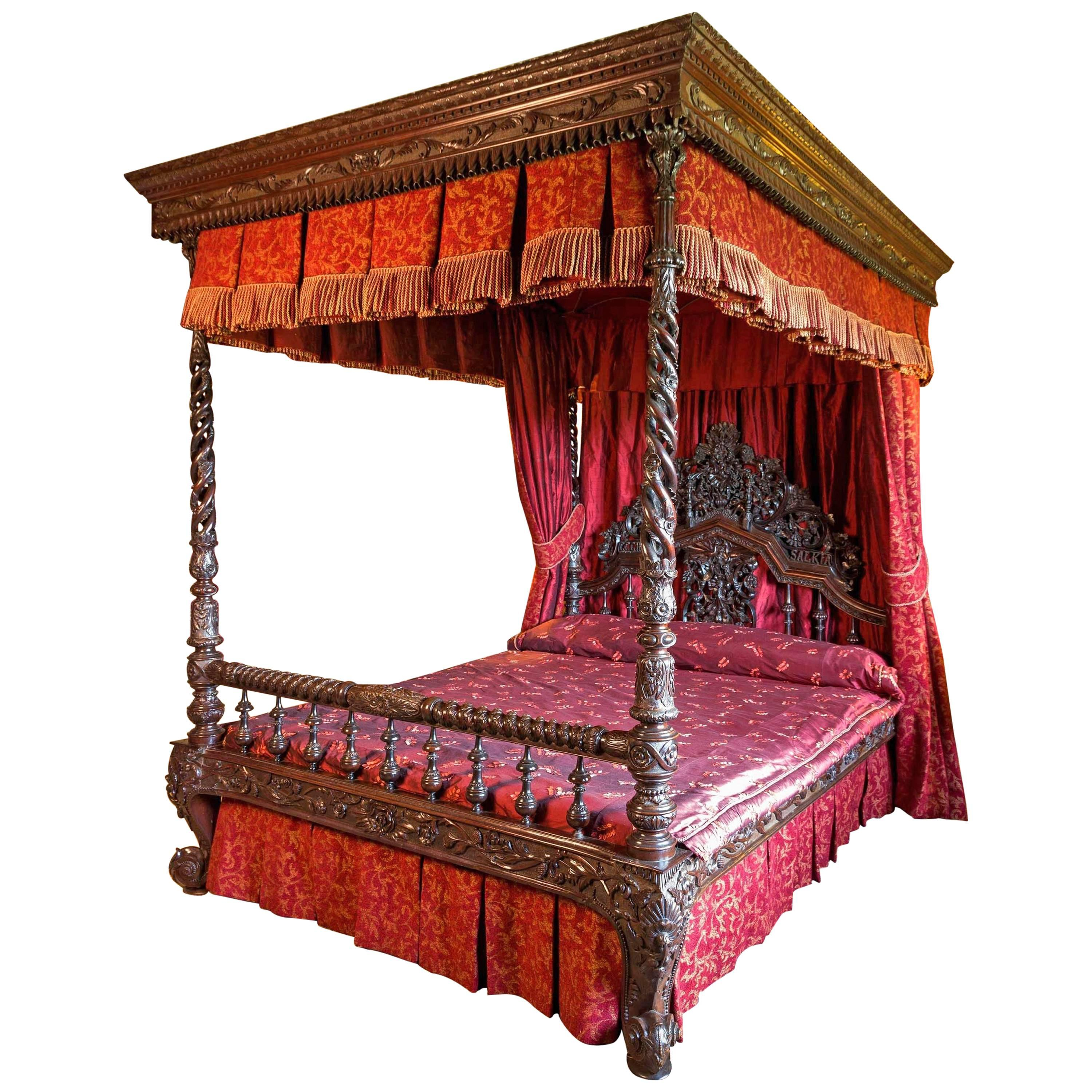 19th Century Anglo Indian Four Poster Bed At 1stdibs