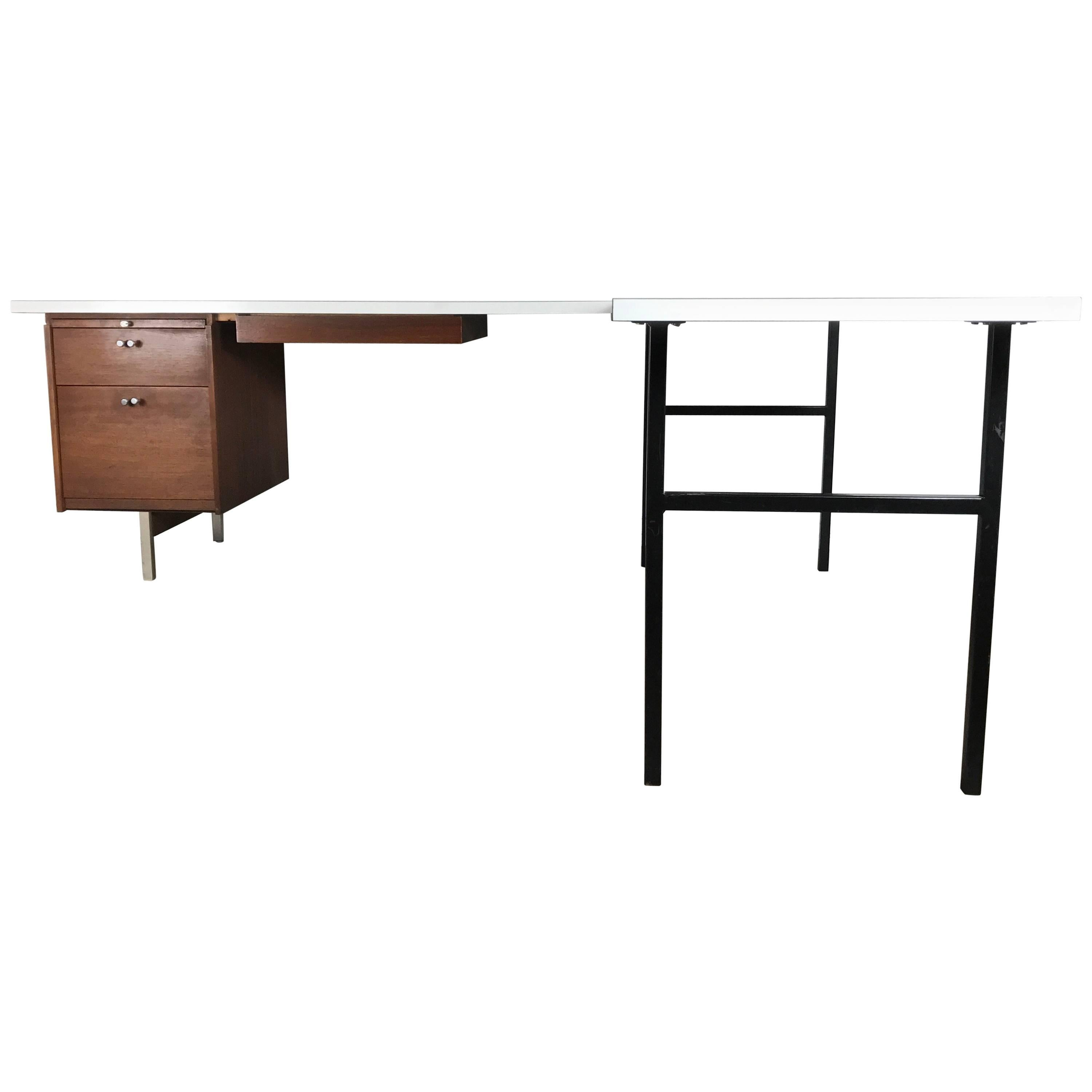 Mid Century Modern L Shape Desk In The Manner Of Florence