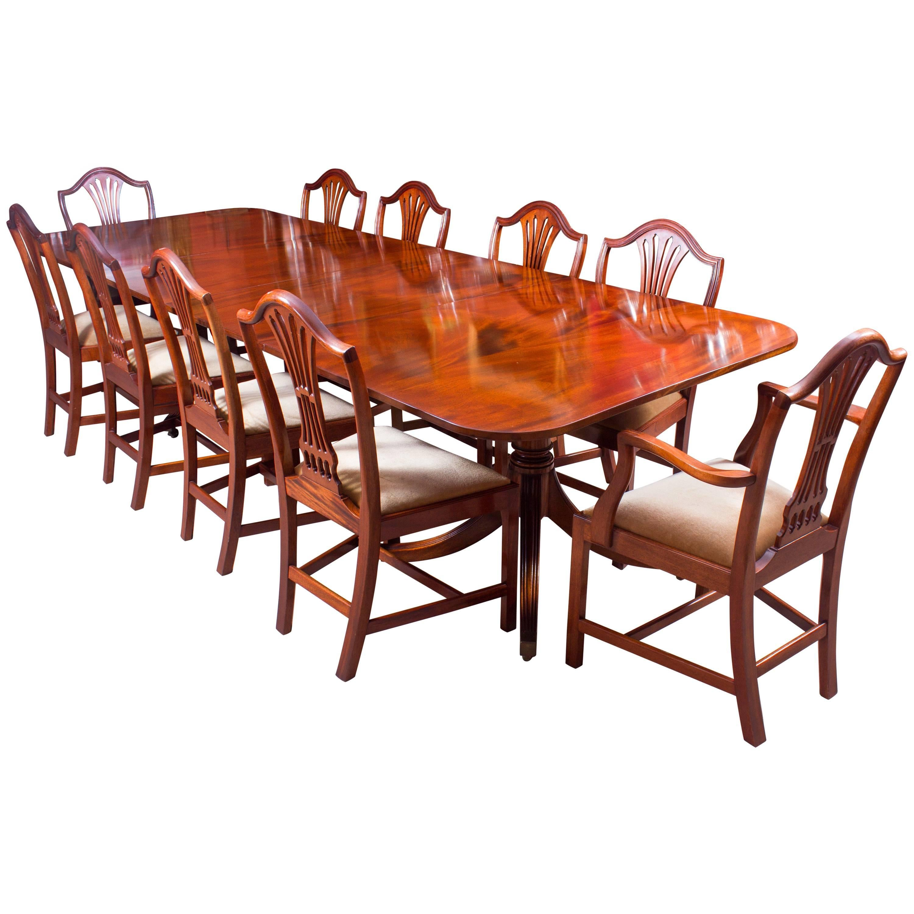 Antique Regency Dining Table C1820 And 8 Vintage Chairs At 1stdibs