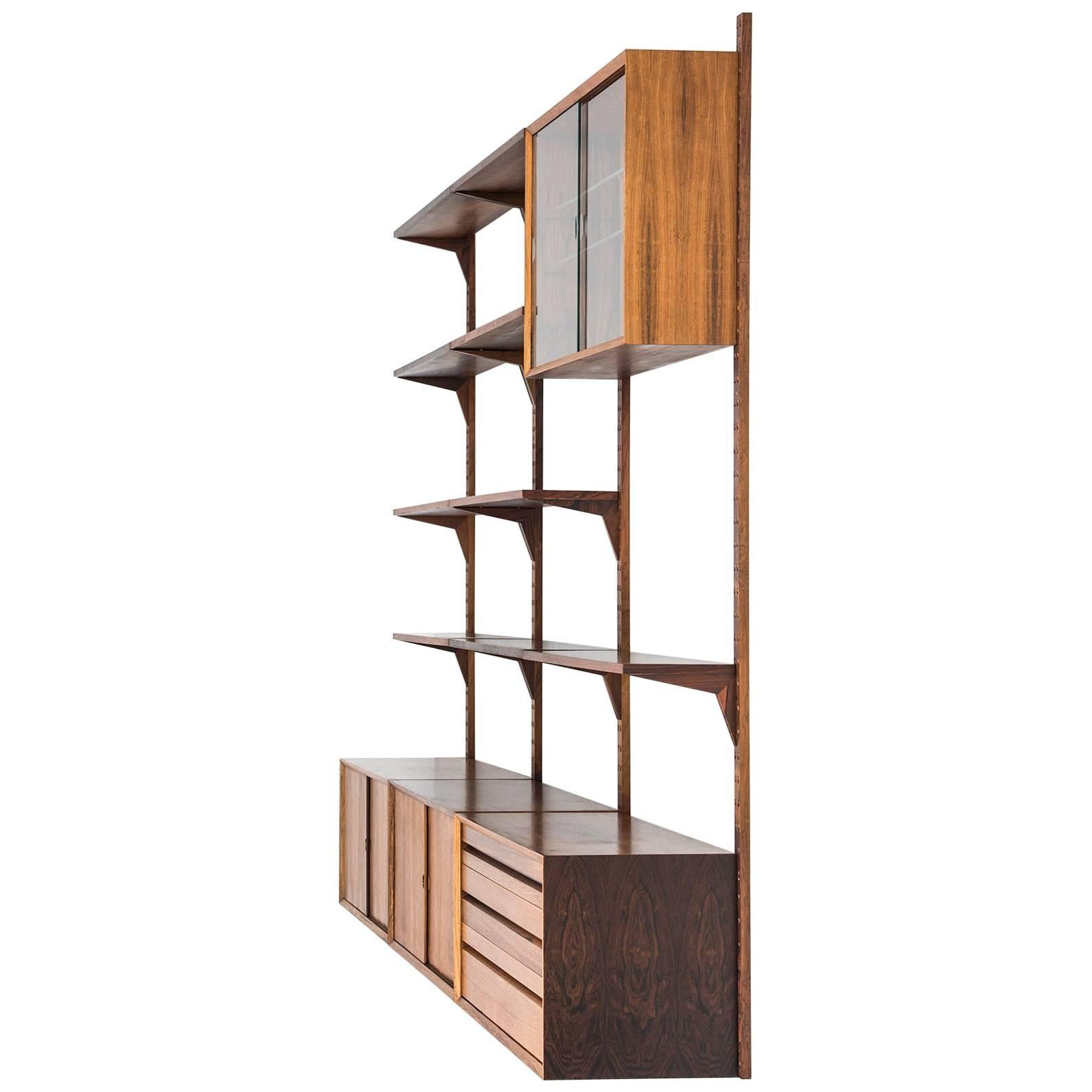 Modular Danish Modern Teak Cado Wall Unit After Poul