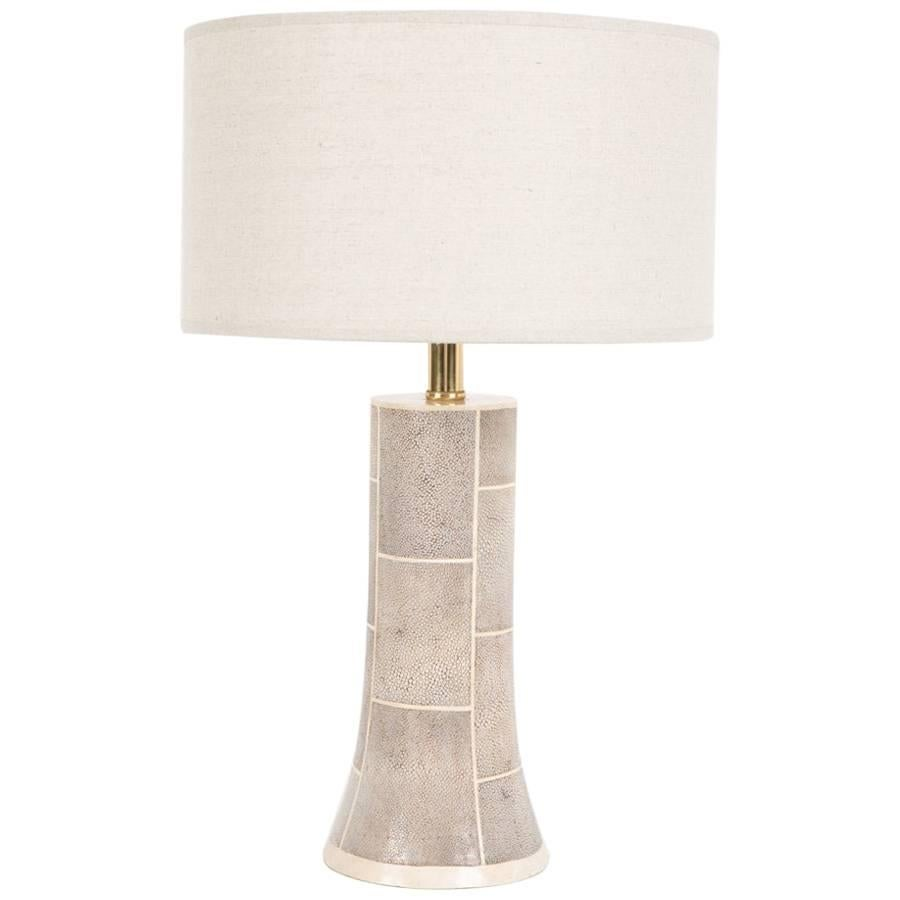 Faux Shagreen Lamp With Bone Inlay For Sale At 1stdibs