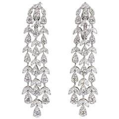 Elegant Diamond Gold Drop Earrings