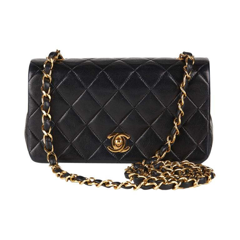 91f8f562f26e 1990s chanel black quilted lambskin vintage single flap bag at 1stdibs