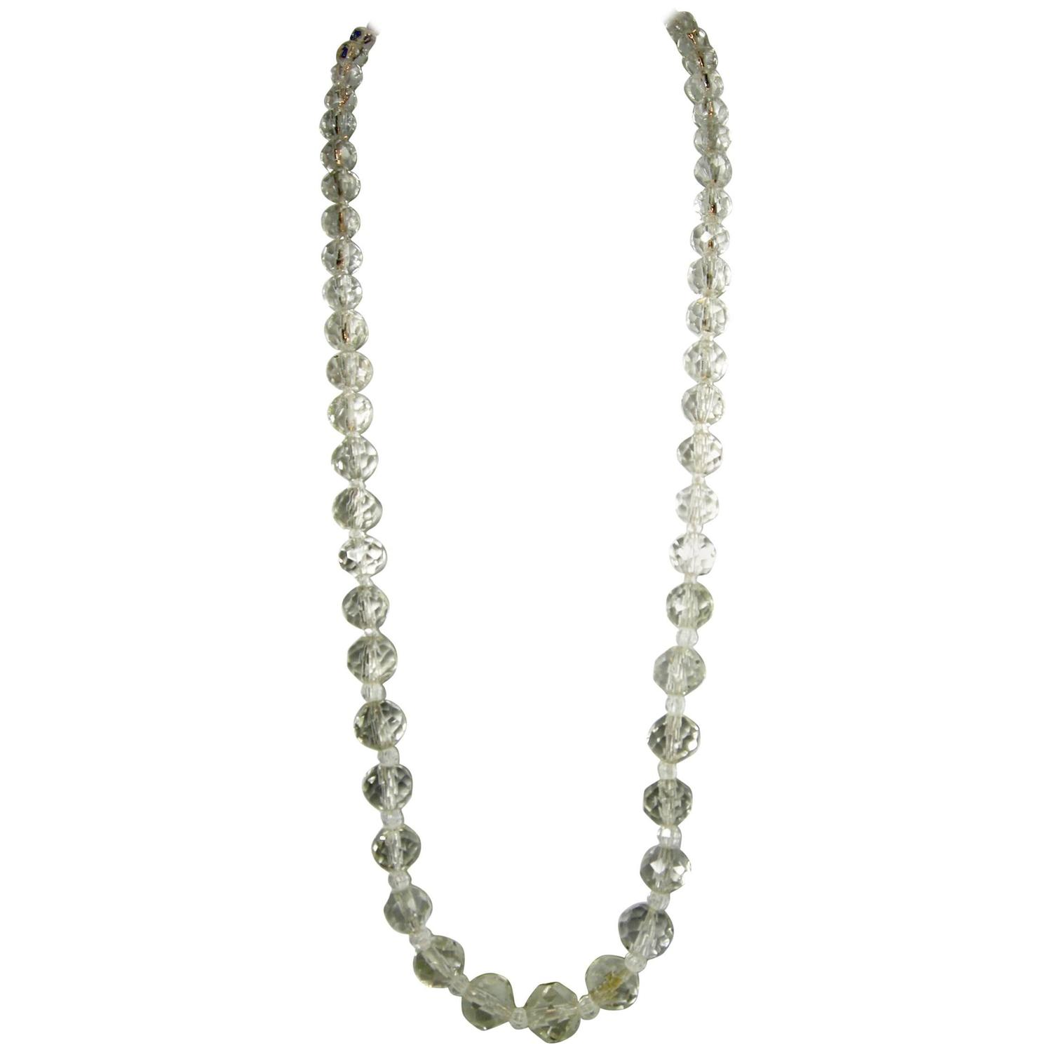 Vintage S Crystal Bead Necklace At 1stdibs