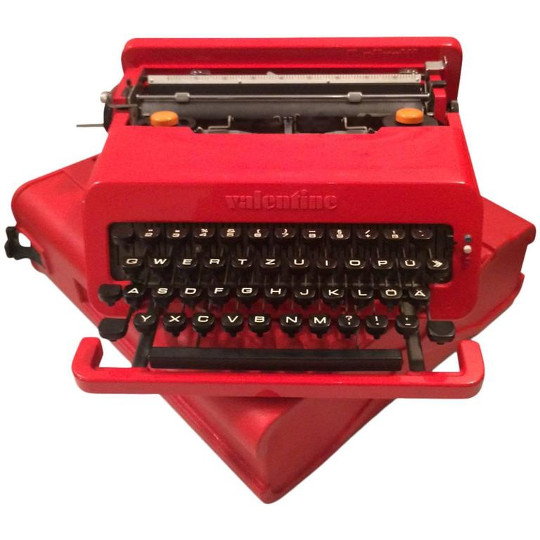 Valentine Typewriter By Ettore Sottsass For Olivetti At