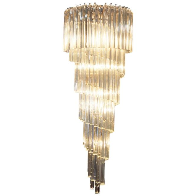 Spiral Murano Glass Chandelier By Venini For