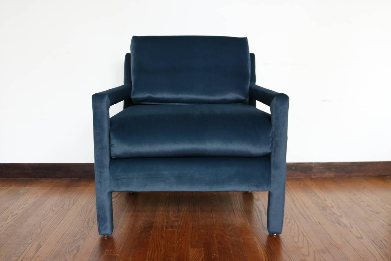 Velvet Parsons Chair Sante Blog