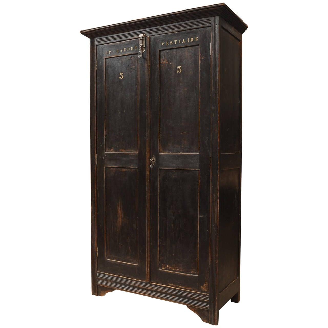French Industrial Locker Cabinet Original Patina At 1stdibs