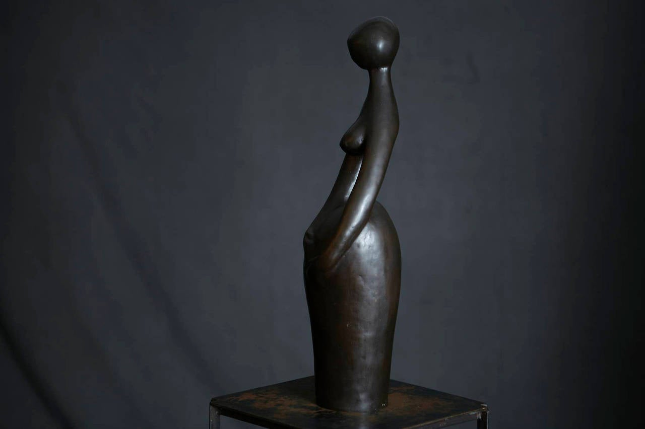 Bronze Sculpture Pregnant Woman At 1stdibs