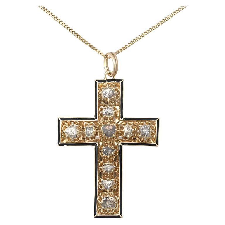 14 Carat Gold Cross Pendant