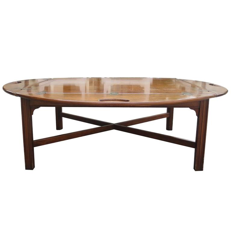 Queen Anne Drop Leaf Coffee Table