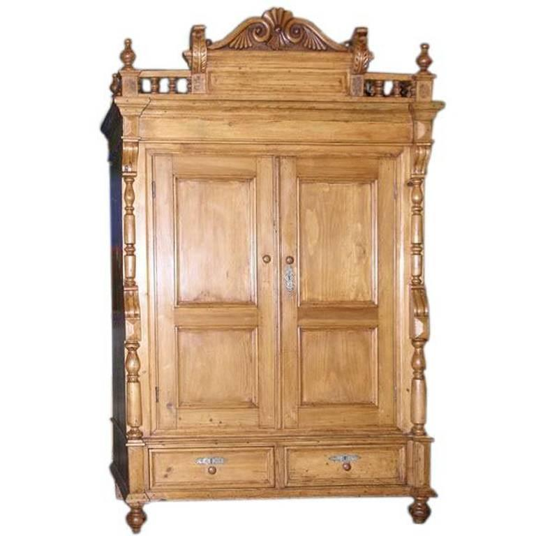 Gothic Armoire For Sale at 1stdibs Neo Gothic Armoire  circa 1870