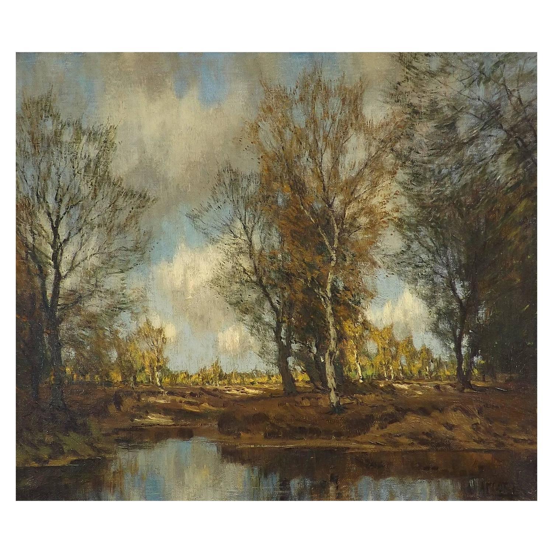 Arnold Marc Gorter Late Autumn Impressionist Oil