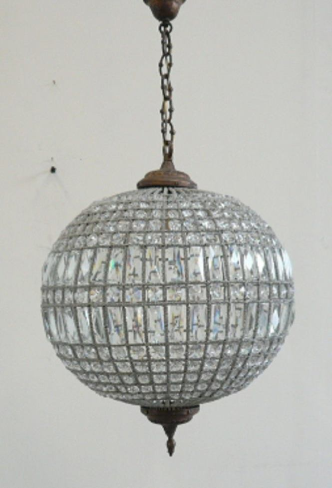 Glass Ball Chandelier 1