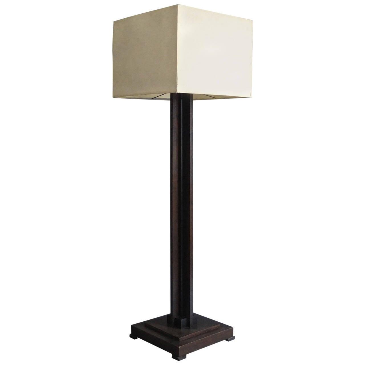 Fine French Art Deco Floor Lamp At 1stdibs