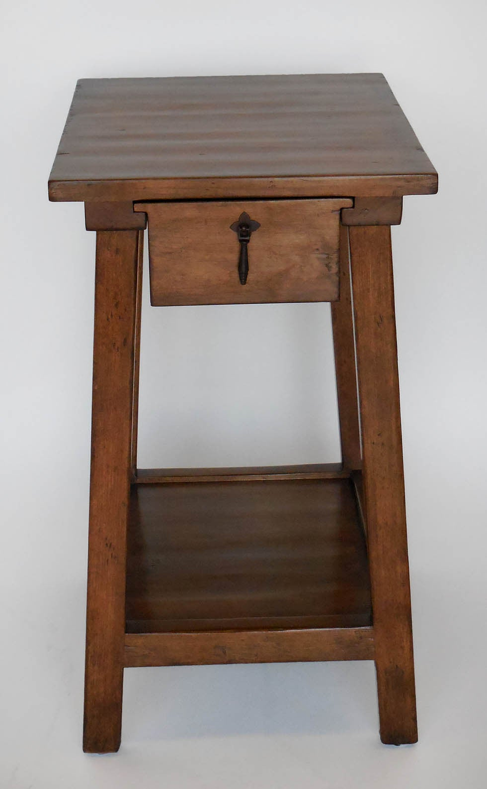 Dos Gallos Custom Wood Nightstand With Drawer And Shelf