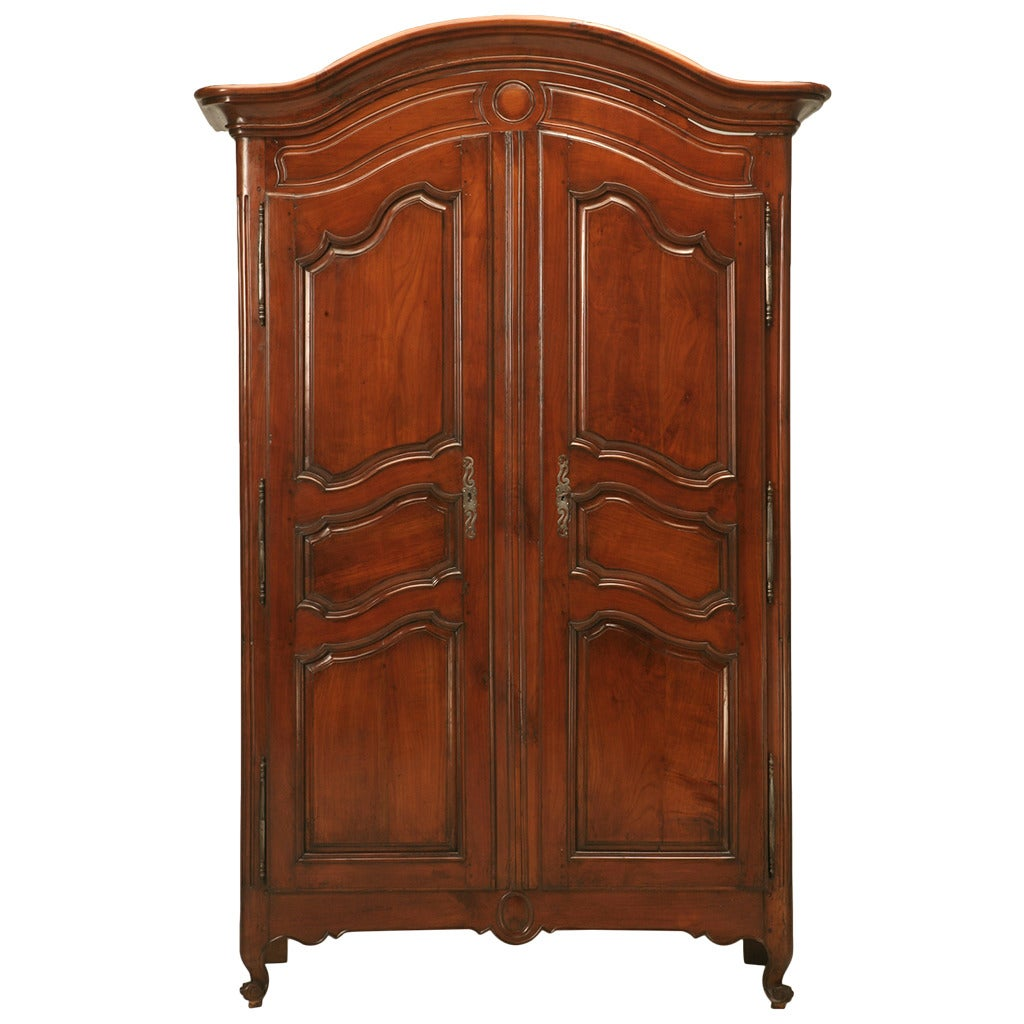 french louis xv style armoire in cherrywood circa 1800s