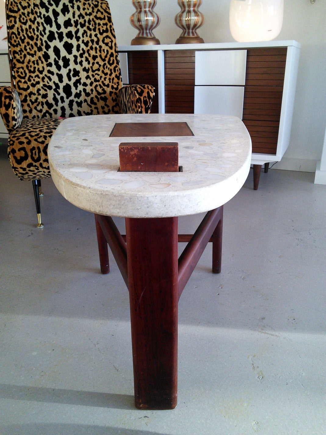 Harvey Probber Terrazzo End Table For Sale At 1stdibs