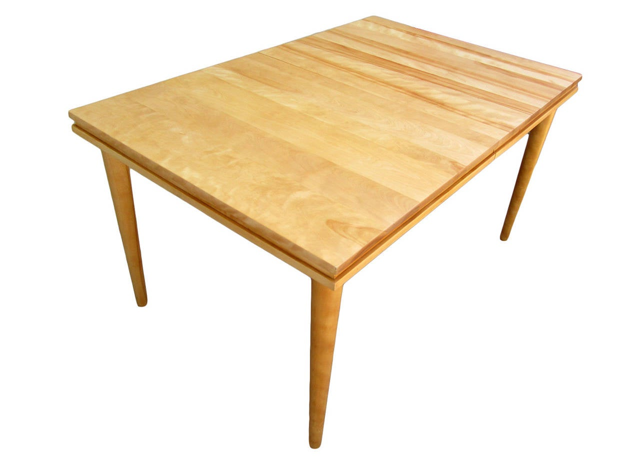 Russel Wright Solid Maple Dining Table At 1stdibs