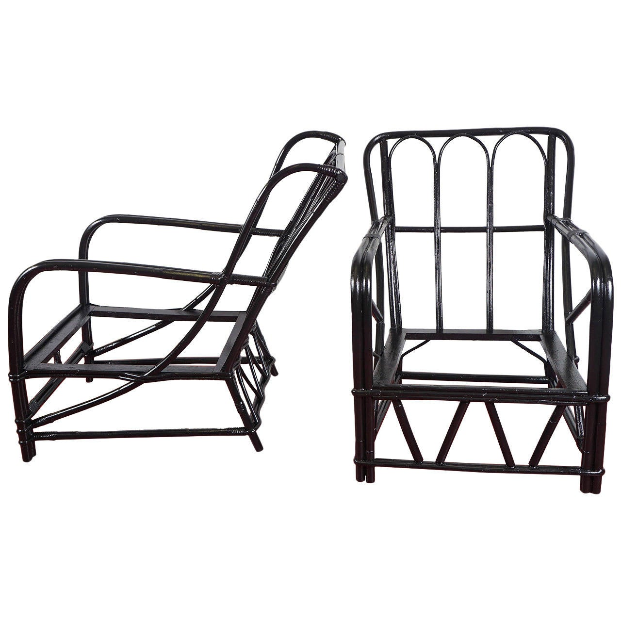 Almost A Pair Two Rattan Bentwood Porch Chairs At 1stdibs