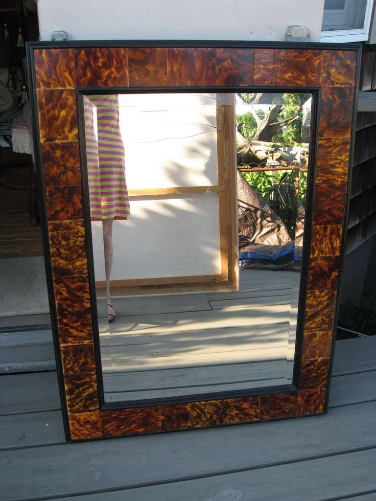 Faux Tortoise Shell Mirror At 1stdibs