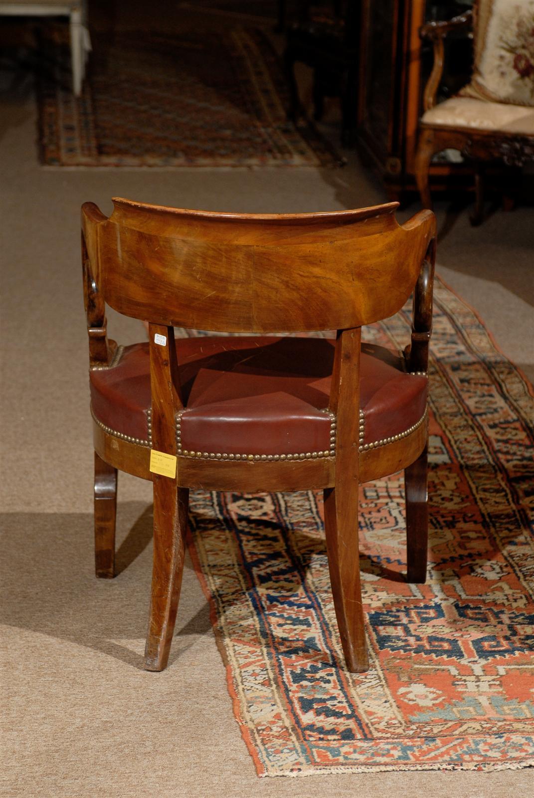 Early 19th Century French Restoration Period Walnut Desk